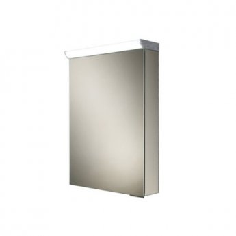 HiB Spectrum Aluminium Illuminated Bathroom Cabinet 700mm H x 500mm W x 115/150mm D