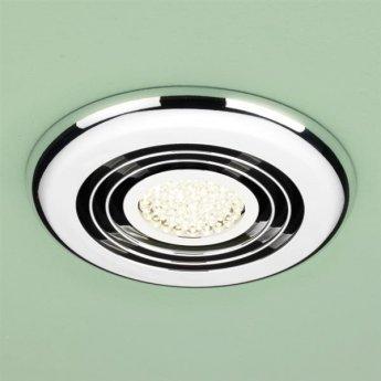HiB Turbo Inline Bathroom Fan With Built in Warm White LED 145mm Diameter
