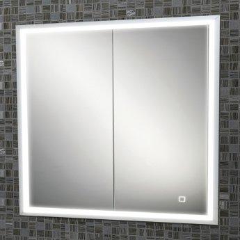 HiB Vanquish 80 Double Door Recessed LED Bathroom Cabinet 730mm H X 830mm W