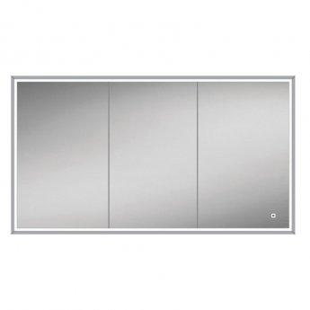 HiB Vanquish 120 Triple Door Recessed Led Bathroom Cabinet 730mm H X 1230mm W