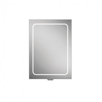 HiB Vapor 50 Aluminium LED Single Door Bathroom Cabinet 700mm H x 500mm W x 122mm D