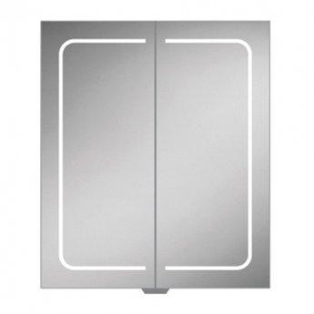 HiB Vapor 60 Aluminium LED Double Door Bathroom Cabinet 700mm H x 600mm W x 122mm D
