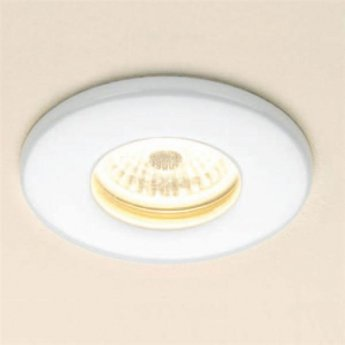 HiB Warm White Fire Rated LED Showerlight - White