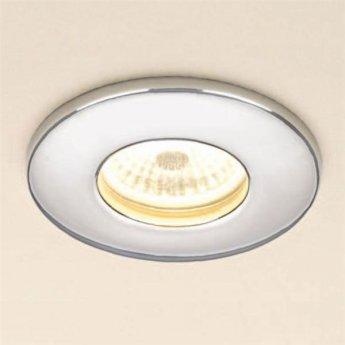 HiB Warm White Fire Rated LED Showerlight - Chrome