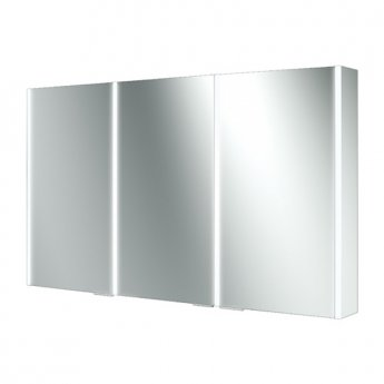 HiB Xenon 120 Aluminium Triple Door Bathroom Cabinet with Vertical LED 700H x 1205mm W x 130mm D