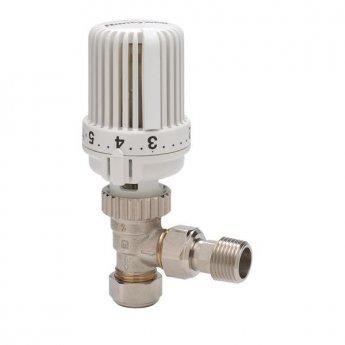 Honeywell VT15EG Contract TRV Angled Radiator Valves Pair - White