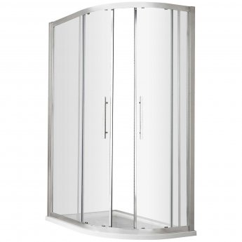 Hudson Reed Apex Offset Quadrant Shower Enclosure 900mm x 800mm with Shower Tray RH - 8mm Glass