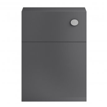Hudson Reed Apollo Back-to-Wall WC Unit, 600mm Wide, Gloss Grey