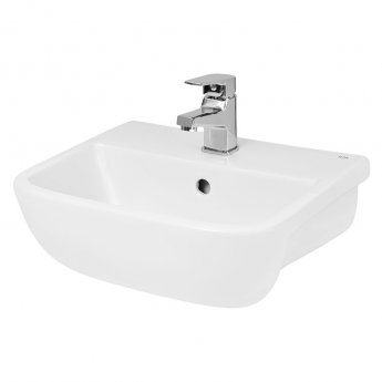 Hudson Reed Aria Semi Recessed Basin 420mm Wide - 1 Tap Hole