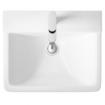 Hudson Reed Arlo Basin with Semi Pedestal 550mm Wide - 1 Tap Hole