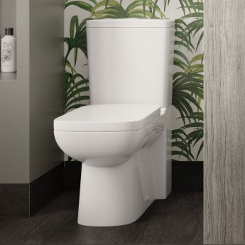 Hudson Reed Arlo Close Coupled Toilet with Push Button Cistern - Soft Close Seat