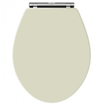Hudson Reed Carlton Wooden Soft Close Toilet Seat Chrome Hinges Pistachio