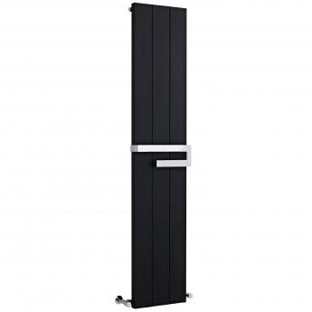 Heatwave Aluminium Designer Vertical Radiator 1800mm H x 370mm W - Black