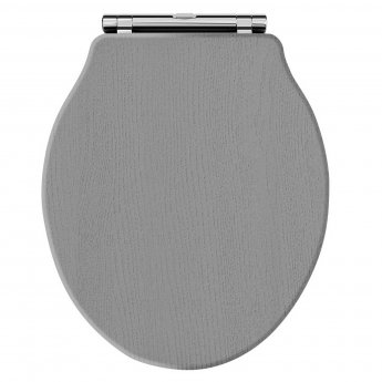 Hudson Reed Chancery Soft Close Toilet Seat Chrome Hinges - Storm Grey