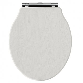 Hudson Reed Chancery Soft Close Toilet Seat Chrome Hinges - Timeless Sand
