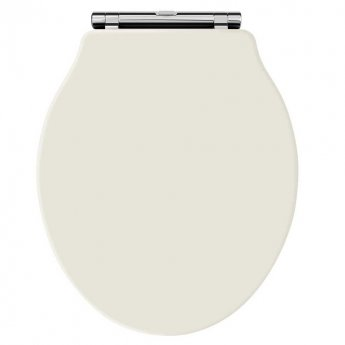 Hudson Reed Chancery Soft Close Toilet Seat Ivory Chrome Hinges