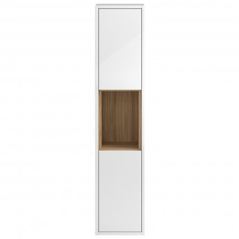 Hudson Reed Coast Tall Storage Unit, 350mm Wide, Gloss White