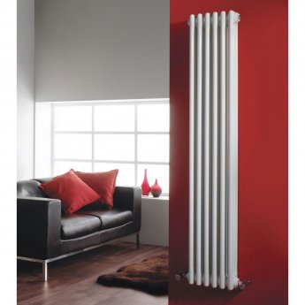 Hudson Reed Colosseum 3-Column Vertical Radiator 1800mm H x 291mm W, White