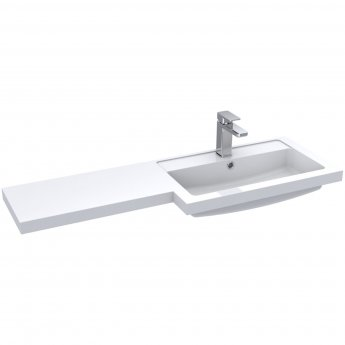 Hudson Reed Fusion RH Combination Unit with 300mm Base Unit - 1200mm Wide - Gloss White