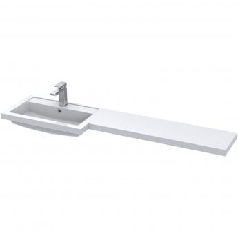 Hudson Reed Fusion LH Combination Unit with 300mm Base Unit x 3 - 1500mm Wide - Gloss White