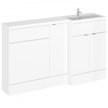 Hudson Reed Fusion RH Combination Unit with 600mm WC Unit - 1500mm Wide - Gloss White