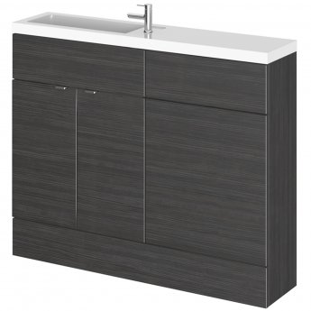 Hudson Reed Fusion Compact Combination Unit with Slimline Basin - 1100mm Wide - Hacienda Black