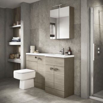 Hudson Reed Fitted Vanity Unit 800mm Wide - Driftwood
