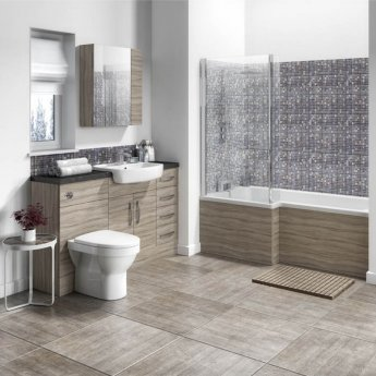 Hudson Reed Compact Fitted Vanity Unit 600mm Wide - Driftwood
