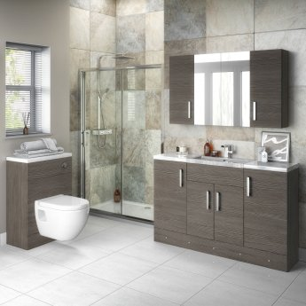 Hudson Reed Fitted Base Unit 400mm Wide - Brown Grey Avola