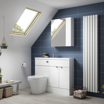 Hudson Reed Fitted Vanity Unit 800mm Wide - Gloss White