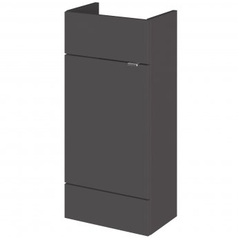 Hudson Reed Compact Fitted Vanity Unit 400mm Wide - Gloss Grey