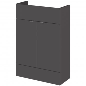Hudson Reed Fusion Compact Vanity Unit 600mm Wide - Gloss Grey