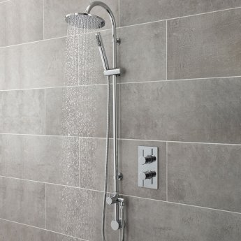Hudson Reed Destiny Shower Kit with Outlet Elbow and Diverter - Chrome