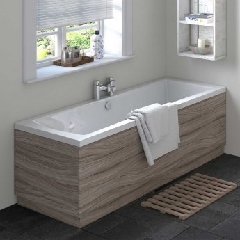Hudson Reed MDF Straight Bath End Panel and Plinth 550mm H x 700mm W - Driftwood