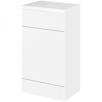 Hudson Reed Fitted WC Unit with Worktop 500mm Wide - Gloss White