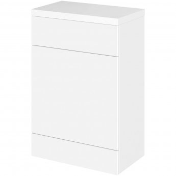 Hudson Reed Fitted WC Unit with Worktop 600mm Wide - Gloss White