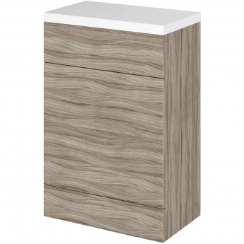Hudson Reed Fitted WC Unit with Worktop 600mm Wide - Driftwood