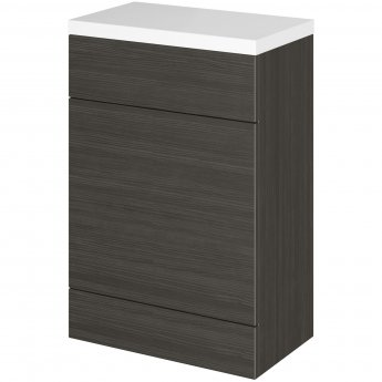 Hudson Reed Fusion WC Unit with Polymarble Worktop 600mm Wide - Hacienda Black