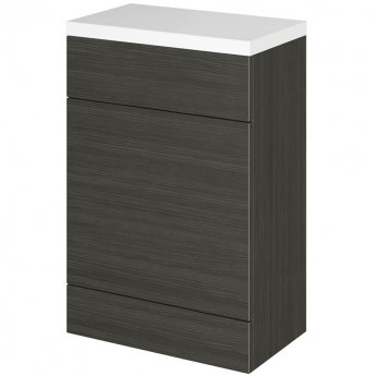 Hudson Reed Fitted WC Unit with Worktop 600mm Wide - Hacienda Black