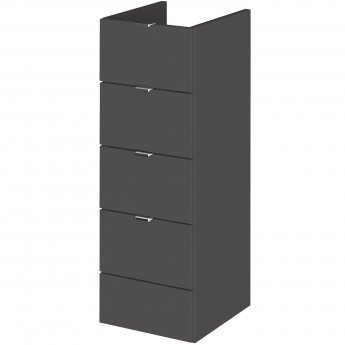 Hudson Reed Fitted Drawer Unit 300mm Wide - Gloss Grey