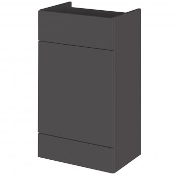Hudson Reed Fitted WC Unit 500mm Wide - Gloss Grey