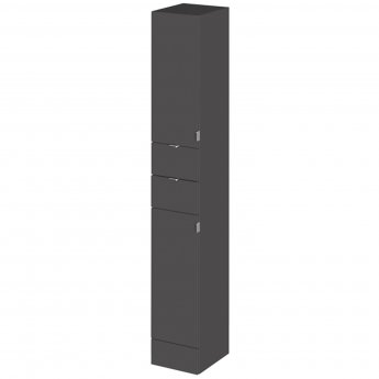 Hudson Reed Fitted Tall Tower Unit 300mm Wide - Gloss Grey