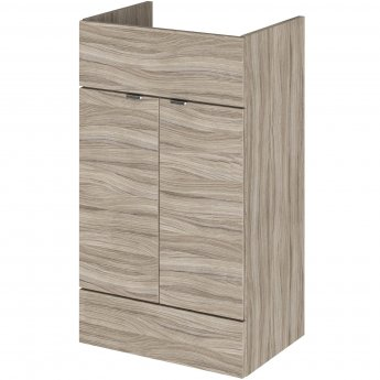 Hudson Reed Fusion LH Combination Unit with 500mm WC Unit - 1000mm Wide - Driftwood