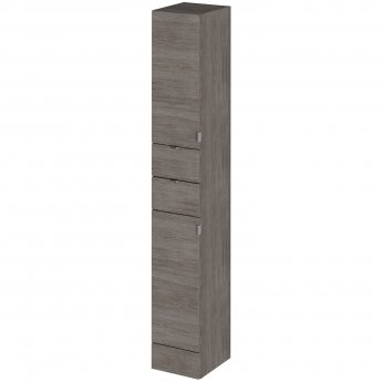 Hudson Reed Fitted Tall Tower Unit 300mm Wide - Brown Grey Avola