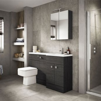 Hudson Reed Fitted WC Unit 600mm Wide - Hacienda Black