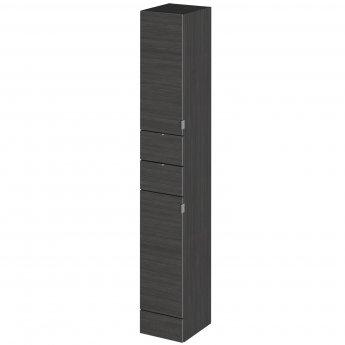 Hudson Reed Fusion Tall Tower Unit 300mm Wide - Hacienda Black