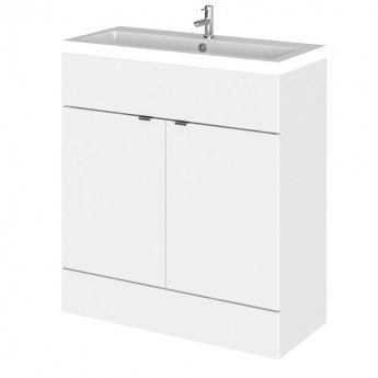 Hudson Reed Fitted Floor Standing Vanity Unit with Basin 800mm Wide - Gloss White