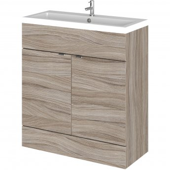 Hudson Reed Fitted Floor Standing Vanity Unit with Basin 800mm Wide - Driftwood