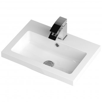 Hudson Reed Fitted Floor Standing Vanity Unit with Basin 500mm Wide - Gloss White