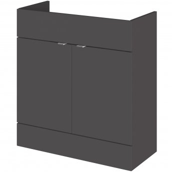 Hudson Reed Fitted Vanity Unit 800mm Wide - Gloss Grey